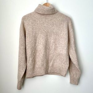 Tan Soft Turtleneck Sweater from H&M